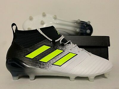 huge discount 335d0 caf67 ADIDAS ACE 17.1 Primeknit FG Soccer Cleats White Solar Yellow Black SZ  [S77035]