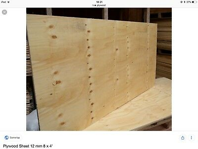 Brand New Plywood Sheets 8 X 4 X 9mm