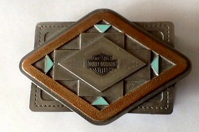 Harley Davidson 1996 Southwest Diamond Bar And Shield Belt Buckle New In Box