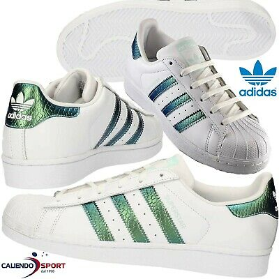 SCARPA ADIDAS SUPERSTAR J Donna Db3369 Bianco Sneaker Originals ... 3aab4357662