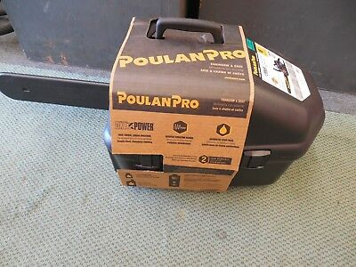 "New Poulan Pro Pr4218  18"" Gas 2 Cycle 42Cc Chainsaw & Carry Case Factory Sealed"