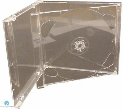 Brilliant Double CD Jewel Case 10.4mm for 2 CD Clear FOLD-OUT Tray HQ