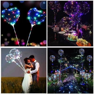 3m LED Light UK Clear Bubble Balloon Wedding Kids Birthday Party Decor Lamp