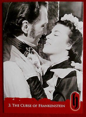 HAMMER HORROR - Series Two - Card #03 - The Curse of Frankenstein - Strictly Ink