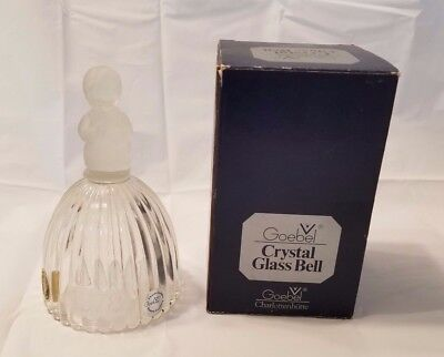 Hummel Goebel W Germany Crystal Frosted Glass Bell 1St Edition Praying Girl