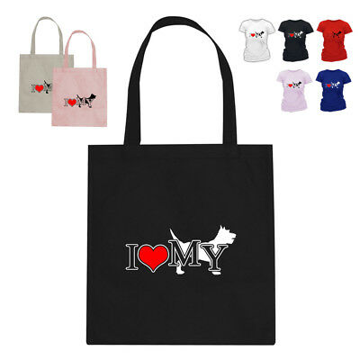 I Love My Cairn Terrier Dog Lover Tote Bag Gift 188