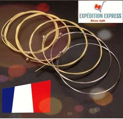 Set jeu de 6 cordes guitare acoustique BRONZE.