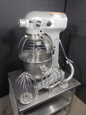 HOBART MIXER 20QT with PORTABLE SS CART >>> $2600 NICE !<<< HOOK, PADDLE, WHIP