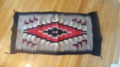 Small Navajo Rug In Overall Good Condition
