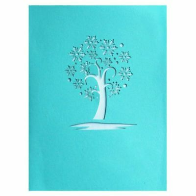4X(3D Snowflake Pop up Greeting Cards Happy Birthday Lover Valentines Anniver P3