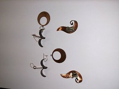 Vintage 5 PC LOT SOLID COPPER JEWERY