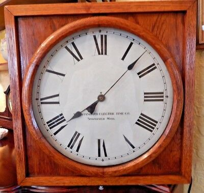 Working Vintage Standard Electric Time Co. Electric Wall Clock