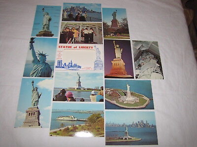 Vintage 1968 Statue of Liberty 12 Color Post Cards