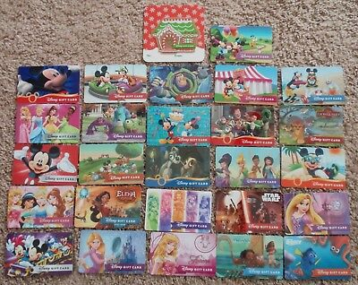 DISNEY Collectible Gift Card LOT of 27 Diff Cards - No Value - Mickey Princesses