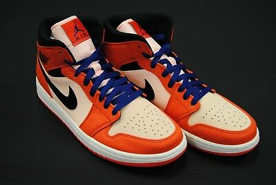 fc82b63db0ab  852542 800  New Men s Air Jordan 1 Mid Se Team Orange Black Crimson Tint