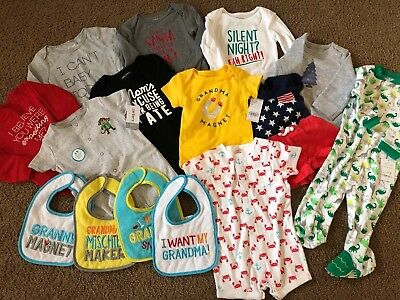 Boys Lot Of Baby Clothes 3 6 9 12 18 24 Month