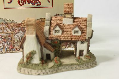 """Vintage DAVID WINTER Cottages """"The Schoolhouse"""" Hand Made 1985 in Original Box"""