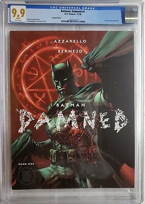 Batman Damned 1 Cgc 9.9 Lee Variant Uncensored 🍆1St Black Label Dc Not 9.8 10.0