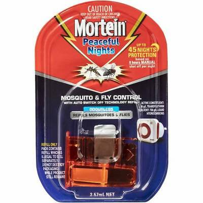 Mortein Peaceful Nights Mosquito & Fly Control Odourless Refill   New & Sealed