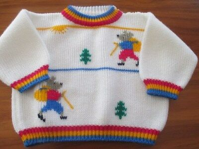 Snuggly Winter Jumper To Fit 12-18 Mth Old - Made In Canada