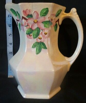 Vintage Maling lustre ware jug with apple blossom flowers Made for Ringtons Ltd.