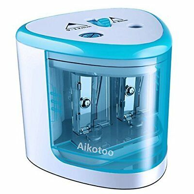 Electric Pencil Sharpener Automatic Battery Operated Powered Desktop Small