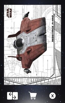 LAST JEDI SELECTS S2 SHIPS & VEHICLES A-WING Topps Star Wars Trader Digital