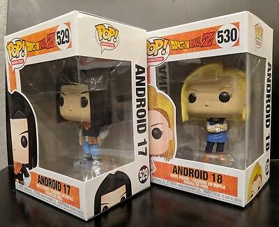 *NEW IN HAND* Funko Pop Animation DragonBall Z Android 17 #529 + Android 18 #530