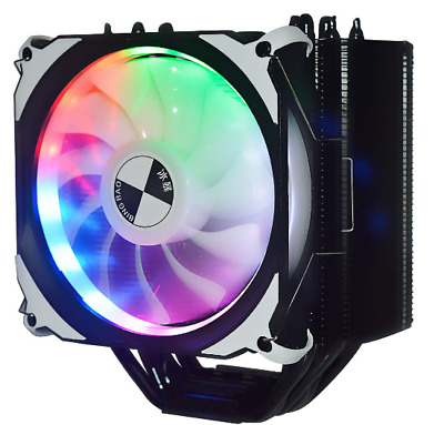 ABATAP CPU cooler with 6 pure copper heat pipes with blue LED lamp PWM fan