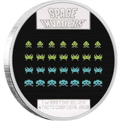 2018 Niue $2 Space Invaders 40th Anniversary 1oz Silver Lenticular Coin