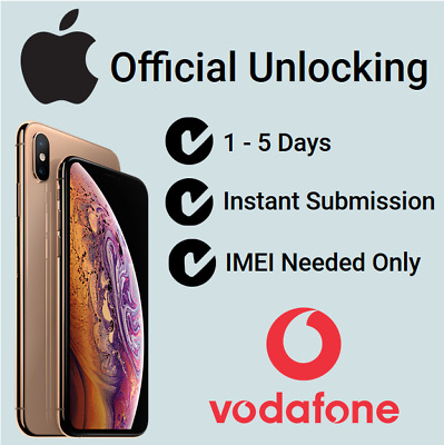 Fast Unlocking Service For Vodafone UK iPhone XS / XS Max No Phone Number Needed