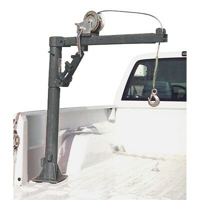 1/2 Ton Capacity Pickup Truck Crane Cable Winch Load Lift Bed Extends Lock