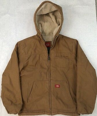 b531f594f484 DICKIES MEN S SANDED Duck Sherpa Lined Hooded Jacket M EUC -  38.99 ...