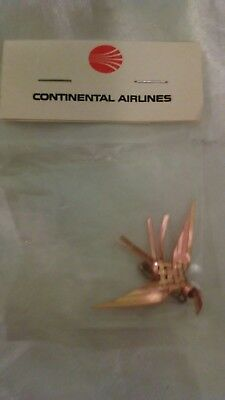 Vintage Continental Airlines Pin Gold Tone Bird In Package