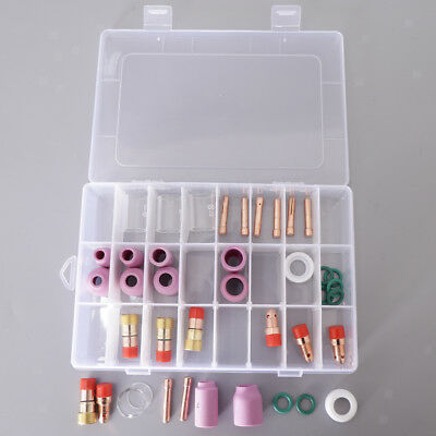 40x Nozzle Pyrex Cup Collet Consumables Kit WP17/18/26 For TIG Welding Torch