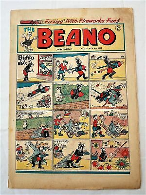BEANO  # 433 November 4th 1950 issue the comic Fireworks Bonfire