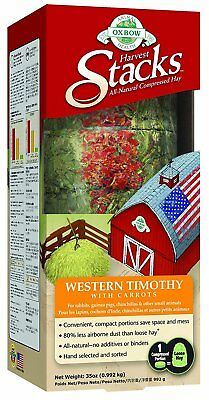 Oxbow HARVEST STACKS Western Timothy with Carrots Gerbil Hamster Food 35 oz