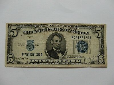 USA - 5 Dollar - Silver Certificate - Banknote - 1934