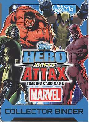 Topps Marvel Hero Attax 2012 Complete 224 Card Set + 1 Ltd + Binder