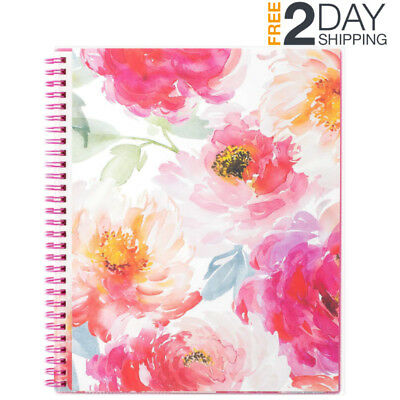 2019 PLANNER WEEKLY MONTHLY 12TABS ORGANIZER TWIN WIRE CLEAR COVER POCKETS 8x10""