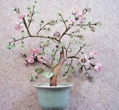 Collectable Chinese BONSAI large glass flower tree ornament,