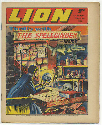 Lion 11th Apr 1970 (top grade) Robot Archie, Spellbinder, Paddy Payne, Dan Dare