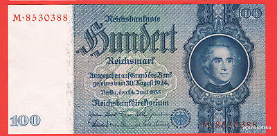 R176a Serie M Udr.G 100 Reichsmark 1935 Germany UNC Pick 183