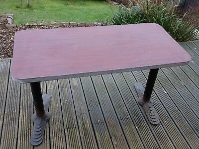 Art Deco Style Table with Cast Iron Legs  Interior Design Project American Diner