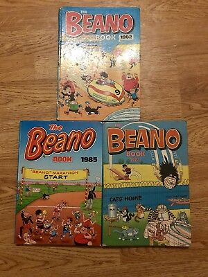 The Beano Annual 1981, 1982 and 1985