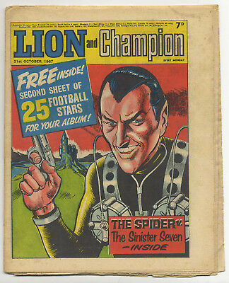 Lion 21st Oct 1967 (high grade) Robot Archie, Barracuda, The Spider