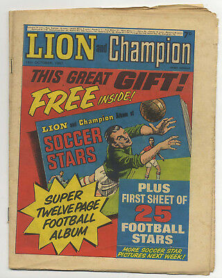 Lion 14th Oct 1967 (high grade) Robot Archie, Barracuda, The Spider