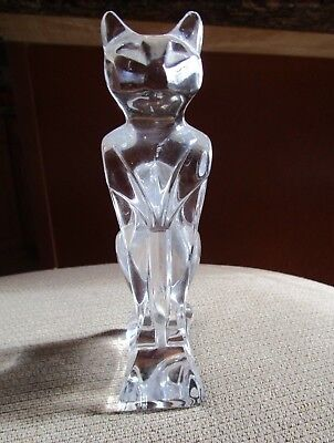 J. G. Durand French Crystal Sphinx Cat Figurine
