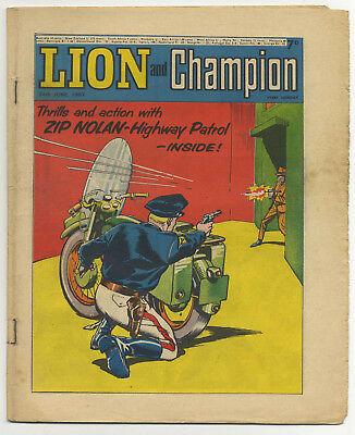Lion 24th Jun 1967 (mid-high grade) Robot Archie, The Spider, Don Lawrence art