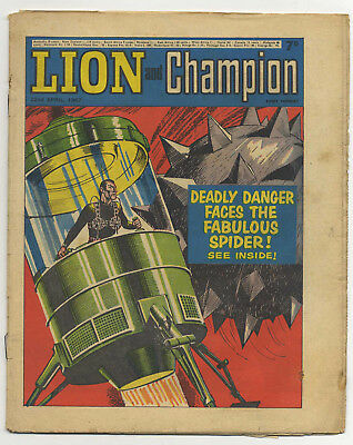 Lion 20th May 1967 (mid-grade) Robot Archie, The Spider, Don Lawrence art